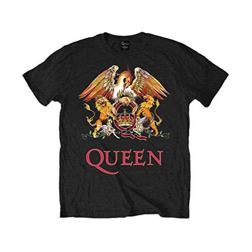 Queen 'Classic Crest' (Black) Kids T-Shirt (3-4 Years)