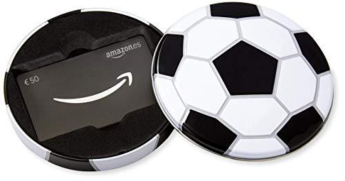 Tarjeta Regalo Amazon.es - €50 (Estuche balón de fútbol)