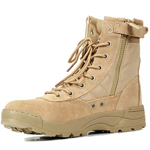 GOAIJFEN Tactical Safety Recon Boot Hommes Femmes Camo léger Combat Militaire Bottines Bottes Respirant Armée,Sand color-42
