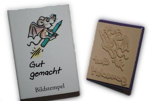 alles-meine.de GmbH Lehrerstempel Stempel  Gut gemacht !  Maus Rakete Tier , Pädagogikstempel