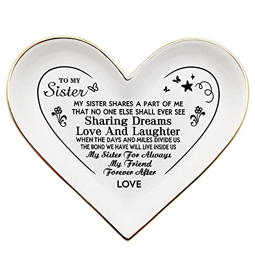 COMISAN Heart Jewelry Dish Trays To My Daughter Gifts from Mom Mothers Day Gifts Trinket Dish for Granddaughter Mother Sister Birthday Wedding