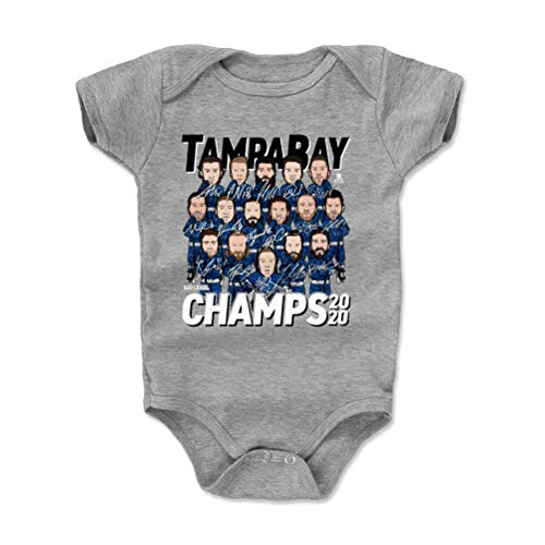 500 LEVEL Tampa Bay Lightning Stanley Cup Championship Baby Clothes, Onesie, Creeper, Bodysuit (Onesie, 12-18 Months, Heather Gray) - Tampa Bay Hockey 2020 Champs WHT
