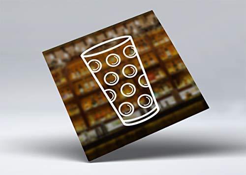 Pfalzkind Aufkleber Dubbeglas - der Pfalz Aufkleber für Auto, Camper Kühlschrank - cool, lustig weiß und transparent - Geschenk für Freunde von Dubbegläser (Weiss, 1)