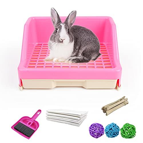 kathson Large Rabbit Litter Box with Drawer, Small Animal Litter Pet Toilet Potty Trainer Corner...