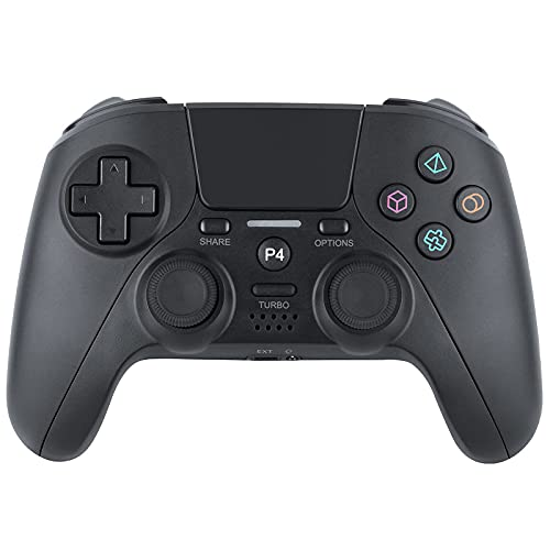 JAMSWALL Controller for PS-4/Pro/Slim/PC Windows, Bluetooth Sixaxis Dual Vibration Turbo Function Wireless Gamepad Remote Joystick