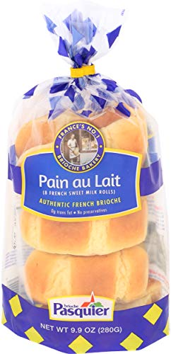 Brioche Pasquier - Authentic French Brioche Pain au Lait Sweet Milk Rolls, 9.9oz (280g)