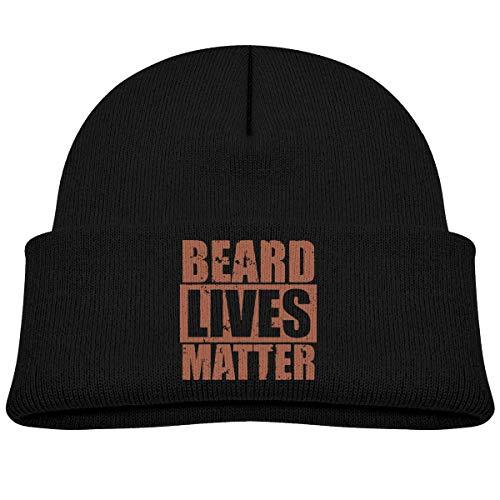Wfispiy Black Child Beanie Caps, Bart lebt Materie Trendy Warm Wool Baggy Skull Cap