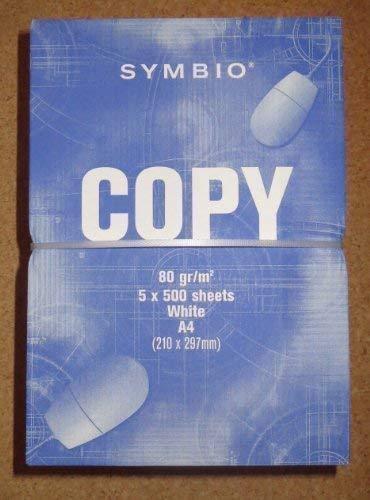 2500 Blatt Symbio Drucker Papier DIN A4 80 g/qm Kopierpapier