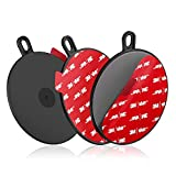 Dashboard Pad Mounting Disk for Suction Cup, 95mm (3.74') 3M Heat Resistant Adhesive Disc for Dash Camera Windshield Holder, GPS, Tablet, Car Phone Bracket Base with Sticky Adhesion Replacement 3 Pack