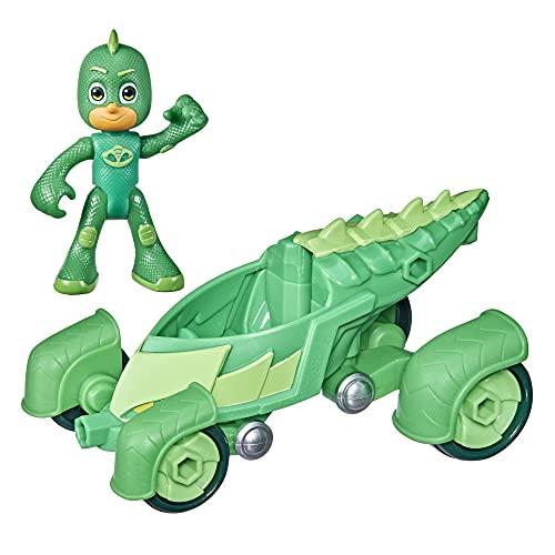 PJ Masks Gekko-Mobile Preschool Toy, Gekko Car with Gekko Action Figure for Kids Ages 3 and Up
