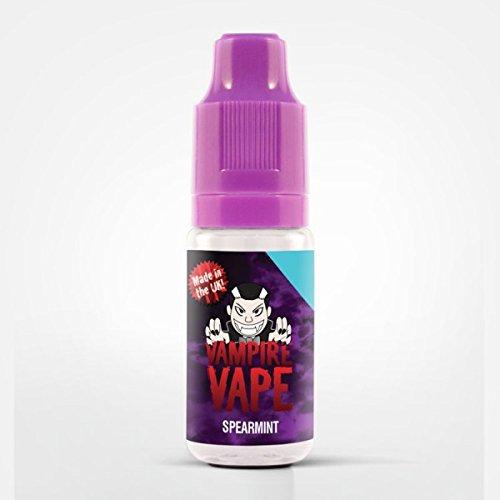 Vampire Vape E-Liquids-heiß begehrt-verschiedene exklusive Geschmackssorten-10ml-gute Dampfentwicklung-für E-Zigarette/E-Shisha-0mg Nikotin (Spearmint- süßer Minze-Kaugummi)