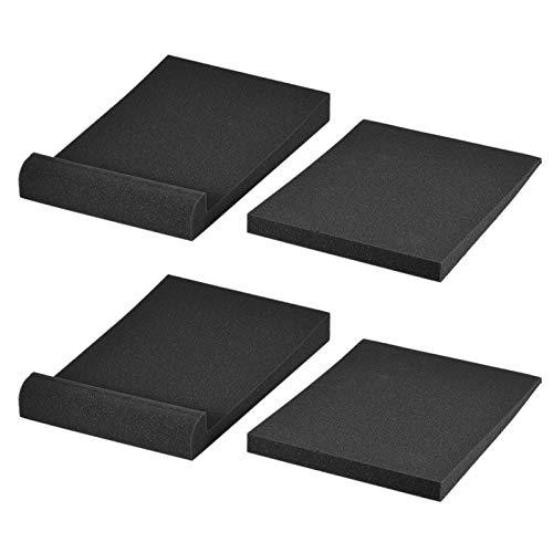 Btuty Paquete de 2 almohadillas de espuma acústica de aislamiento para altavoz de monitor de estudio, máx. 9.6 pulgadas x 7.7 pulgadas área utilizable