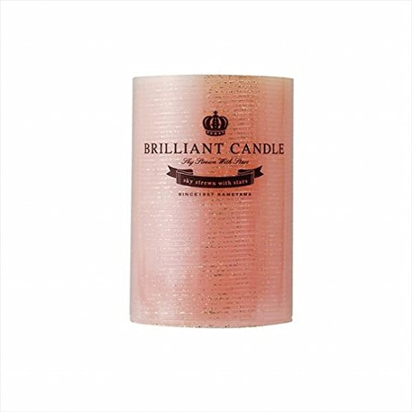 カビ繊毛呪いカメヤマキャンドル(kameyama candle) ブリリアントピラー2×3 「 コーラル 」