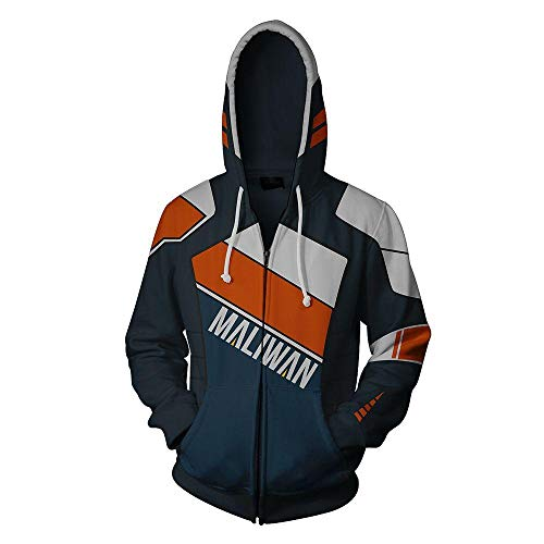 Preisvergleich Produktbild Jonyn 3D Hoodie Sweatshirt mit Kapuze Freizeit Langarm Pullover Unisex HD Druck (XXS-XXXL) Borderlands Mit Reißverschluss