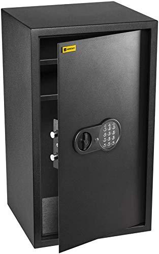 Homesafe HV70E Tresor Safe mit Elektronischem Schloss, 70x40x36cm (HxWxD), Carbon Satin Schwarz