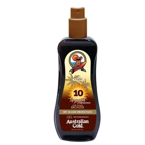 Australian Gold Spray Gel avec Agent Bronzant SPF 10 237 ml