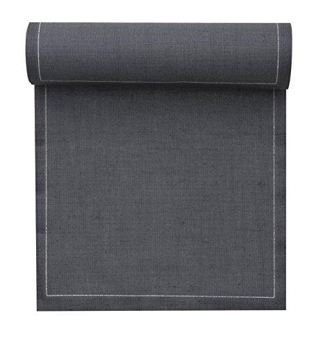 MYdrap servilletas de cóctel y Posavasos/Toalla de Rollo de Papel de Tela de Lino, Gris Intense, 11 x 11 cm