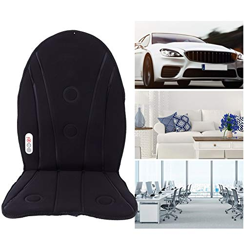 Heated Car Seat Cushion Car Seat Massage Cushion Back Massager Pad Effective for Office Seat for Home(British standard 220v)