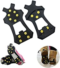 AGOOL Ice Cleats Snow Traction Cleats Crampons for Shoe and Boots Non-Slip Overshoe for Walking on Snow and Ice Rubber Walking Cleats Anti Slip Crampons