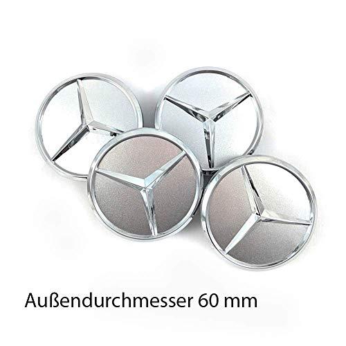 coprimozzo copriruota coprimozzo Felgendeckel Copricerchione Mercedes Benz 4 x 60 mm coprimozzo coprimozzo