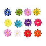 20 PCS Bordados para Ropa Patch Coloreado Lindo Sticker Flor de Dibujos Animados Parches Bordados DIY Accesorios Decorativos Ropa, Sombreros de Plantas, Vaqueros, Accesorios de Costura