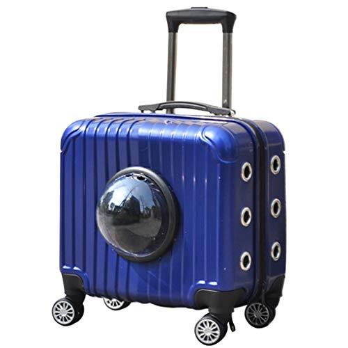 Lichtgewicht Aluminium Huisdier Koffer Airline Goedgekeurd, Grote Kat Trunk Met Intrekbare Telescopische Handgreep, Geventileerd Ontwerp, Voor Reizen, Wandelen, Wandelen