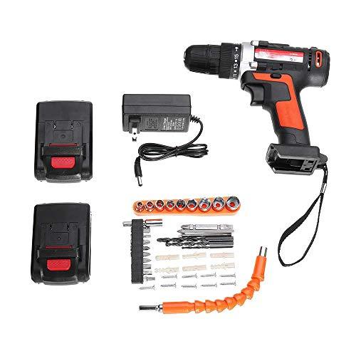 ZXL Elektrische slagmoersleutel, 4000 mAh, 24 V, accu-borstelloze boordriver, toerental 15 koppel met 2 Li-ion-accu's, voor thuis, doe-het-zelf elektrisch gereedschap