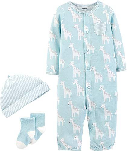 Carters Baby Boys 3-pc. Giraffe Take Me Home Layette Set 3 Month Blue/White