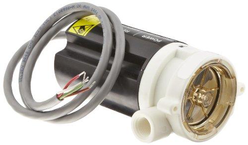 "Gems Sensors RFS Series Polypropylene Flow Sensor Switch, Inline, Rotor Type, 115 VAC Input, 0.1-5.0 gpm Flow Setting Adjustment Range, 1/4"" NPT Female"