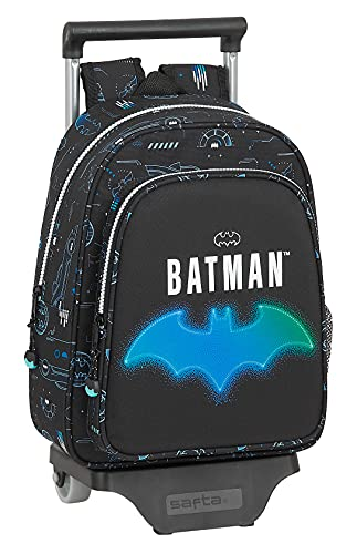 safta Mochila Infantil de Batman Bat-Tech con Carro 705, 270x100x330 mm