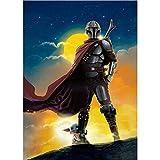 YALUO Star Wars The Mandalorian Baby Yoda Boba Fett Poster Canvas Pittura Soggiorno Decorazione da Camera da Letto Decorazione murale Art Murale Decor (Color : A, Size : 60X80CM No Frame)