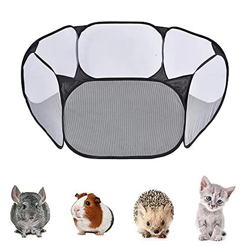 SDFSD Kleintier Zelt, Kleintiere Laufstall, Tragbarer Gehege, Tragbar Außen Innen Laufstall, Faltbar Kleintierkäfig, für Meerschweinchen, Kaninchen, Hamster, Chinchillas und Igel