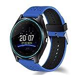 Bluetooth Smartwatch RONEBERG, Reloj Inteligente con Llamada y Texto con cámara de visualización táctil y sincronización de notificaciones