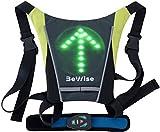 Gilet LED Clignotants Réfléchissant, Ideal pour les Cyclistes qui Veulent etre en securité, Télécommande Étanche Sans-Fil Incluse, Batterie Rechargeable en 4H et 15H d'Autonomie, Sangles Réglables