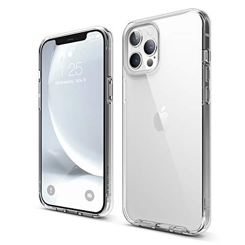 Elago Ibrido Clear Custodia Cover Compatibile con iPhone 12 PRO Max Case (6.7'), Anti-Ingiallimento Hard PC Retro, Paraurti Flessibile Cover Antiurto (Trasparente)