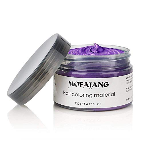 MOFAJANG Unisex Hair Wax Dye Styling Cream Mud, Upgrated Natural Hairstyle Color Pomade,...