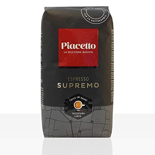Piacetto Espresso supremo, 1.000g Kaffee | Ganze Bohne | Robusta-Arabica Mischung | Ideal für Vollautomaten | Einzigartige Piacetto-Kaffeequalität