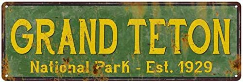 Grand Teton National Park Sign Decorati Décor Trust Selling and selling Rustic Signs Cabin