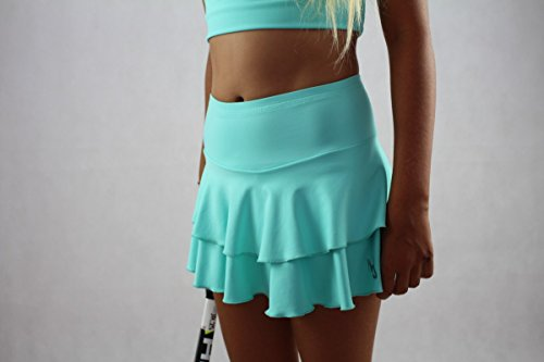 Tennisröcke Mädchen (Türkis, Größe: 152-158/ Alter: 11-13 Jahre)
