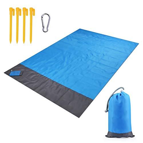 Picknickdecke 200 X 210cm Stranddecke Strandmatte wasserdichte Und Sanddichte Strandmatte Tragbare Picknickmatte, Geeignet Für Strand, Garten, Grünland, Camping, Wandern