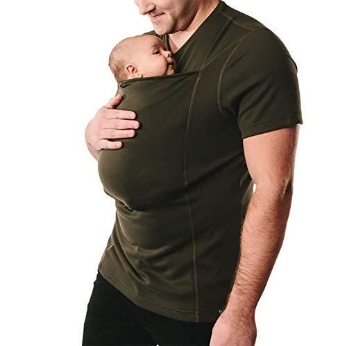 G&F Kangoeroe Papa Shirts Handen Gratis Huid aan Verzorging Pocket Baby Carrier Nieuwe Papa Tank Top