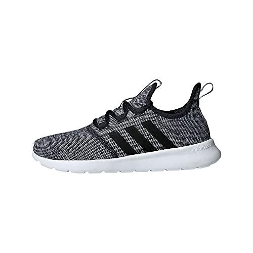 adidas Women's Cloudfoam Pure Running Shoe, Black/Black/White, 9