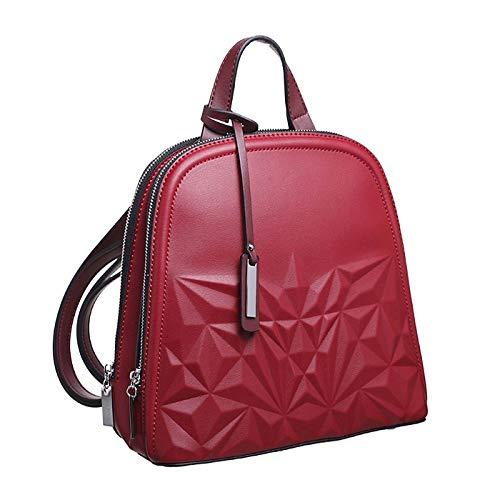 boquita de piñon bolso mochila mujer antirrobo casual negro baratos barata elegante mediana marron original polipiel seguro azul rojo camel (rojo)