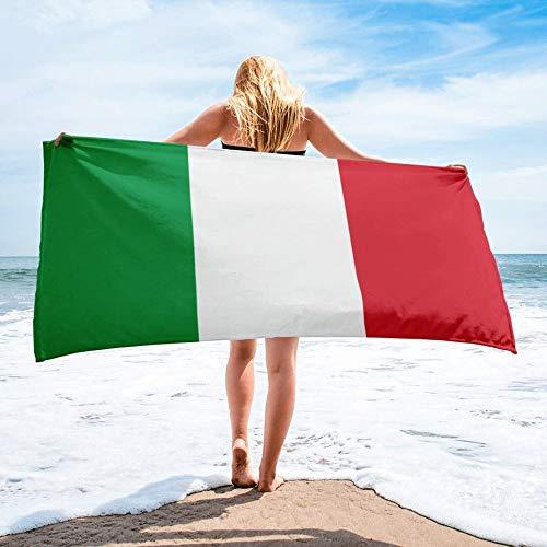 Strandtuch,Tragbare Italien Nationalflagge Gedruckt Rechteck Strandtuch Mikrofaser Badetuch Für Männer Und Frauen Ideal Für Schwimmen Spa Reisen Yoga Sport Camping Sonnenliege Bad