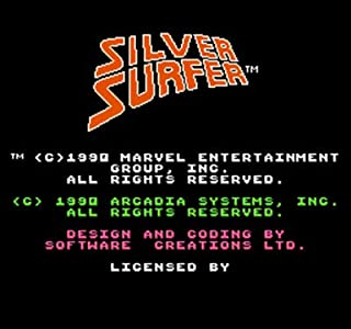 TopFor Silver Surfer Region Free 8 Bit Game Card For 72 Pin Video Game Player