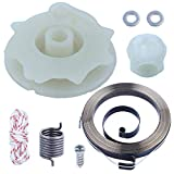 Adefol Chainsaw Recoil Starter Pulley Spring Kit for Poulan PP4218 PP4620AV PPB4018 SM4218AV with Recoil Spring W/Hub, Starter Rope, Bolt w/Washer Replacement Parts for 530071966
