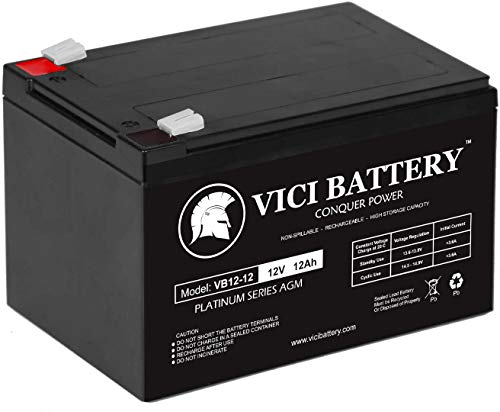 VICI Battery VB12-12 - 12V 12AH F2 Battery REPL. 6DZM-10, 6-DZM-10 Brand Product