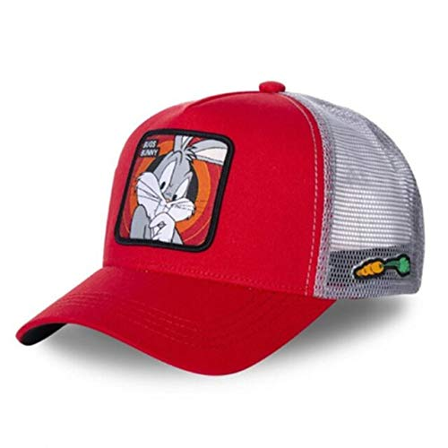 Gorra Snapback Gorra de béisbol de algodón Hombres Mujeres Hip Hop Papá Sombrero de Malla Trucker-Bugs Red