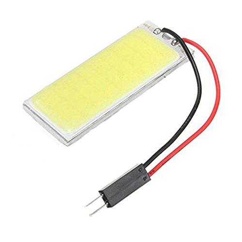 REFURBISHHOUSE Panneau T10 36 SMD COB LED Voiture Ampoule Lecture/Plafonnier Lampe Blanc Pur + T10/BA9S/Dome Festoon Adaptateurs