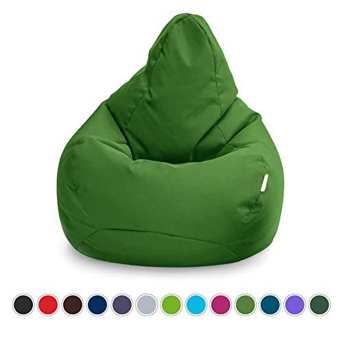 Loft 25 Bean Bag Gamer Chair   Outdoor Indoor Living Room BeanBag Seat   Water Resistant   Ergonomic Design for Body Support   Durable & Comfortable (Bean Bag, English Ivy)